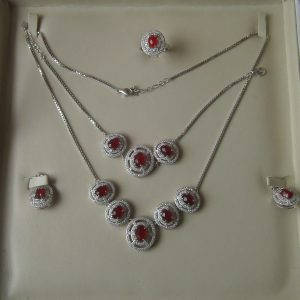 Ruby Stone Necklace Set